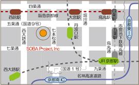 京都本社地図